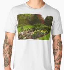 New Leaves and Flowers - Impressions Of Spring Men's Premium T-Shirt