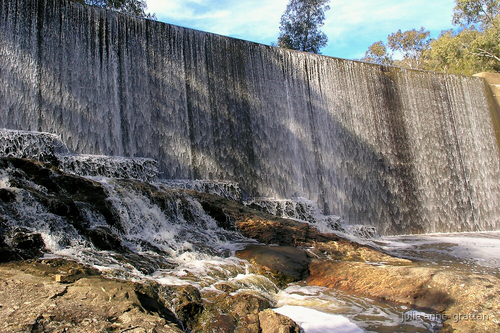 koorawatha weir wall by julie anne  grattan