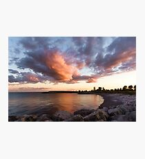 Colorful Summer Sunset - Lake Ontario Impressions Photographic Print