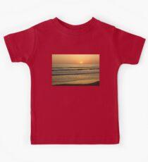 Golden California Sunset - Pacific Beach, San Diego Kids Tee