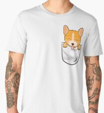 Pocket Corgi! Men's Premium T-Shirt