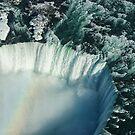 Flying Over Icy Niagara Falls by Georgia Mizuleva