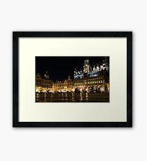 Brussels - the Magnificent Grand Place at Night Framed Print