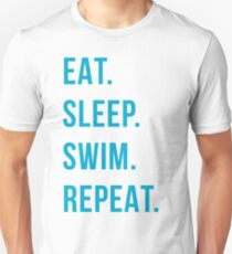 Essen. schlafen. schwimmen. wiederholen. Slim Fit T-Shirt
