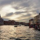 Impressions of Venice - the Grand Canal in Silver and Pearl by Georgia Mizuleva