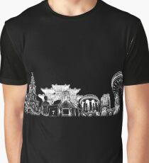 Liverpool Landmarks Montage White Print Graphic T-Shirt
