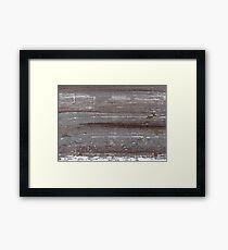 Sonic silver abstract watercolor Framed Print