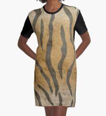 Tiger Skin Graphic T-Shirt Dress