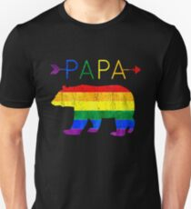 Papa Bear Arrows LGBT Pride Unisex T-Shirt