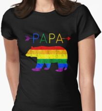 Papa Bear Arrows LGBT Pride Womens Fitted T-Shirt