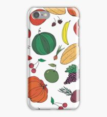 Fresh vegetables fruits and berries iPhone Case/Skin