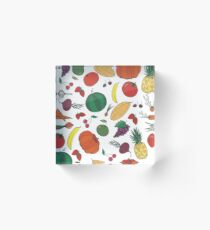 Fresh vegetables fruits and berries Acrylic Block