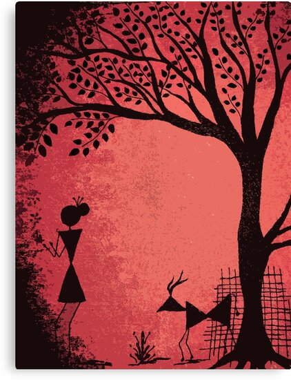 Quot Warli Art Quot Canvas Prints By Priyanka Nayak Redbubble