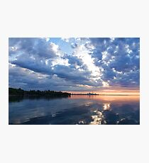 Blue Morning Zen - Toronto Skyline Impressions Photographic Print