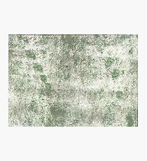 Camouflage green abstract watercolor Photographic Print