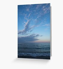 Pale Blues and Feathery Clouds in the Fading Light Greeting Card