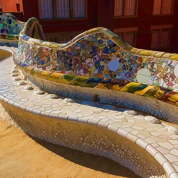 Gaudi's Park Guell Sinuous Curves - Impressions Of Barcelona by GeorgiaM