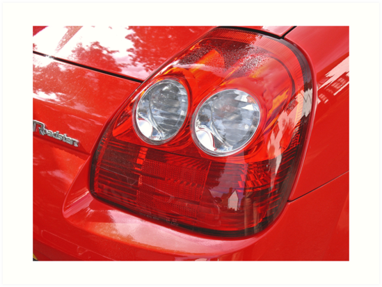 Red Sports Car Detail by BizziLizzy