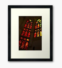 Glorious Reds and Yellows - Sagrada Familia Stained Glass Windows Framed Print