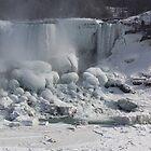Niagara Falls Ice Buildup - American Falls, New York State, USA by Georgia Mizuleva