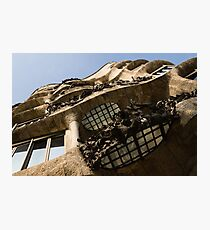 Wrought Iron, Glass and Stone Plus a Genius Imagination Photographic Print