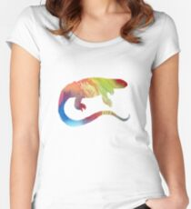 Monitor Lizard  Women's Fitted Scoop T-Shirt