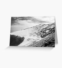 Mount Catria under the snow 05 Greeting Card