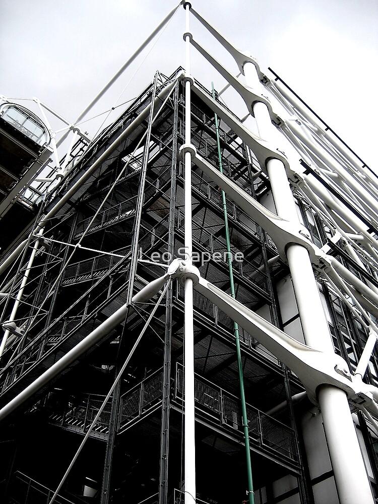 Pompidou Art Center in Paris by Leo Sapene