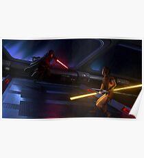 Star Wars KOTOR - Revan VS Bastila Poster