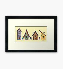birdhouses Framed Print