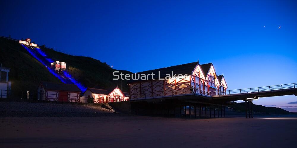 Saltburn Pier At Dusk by Stewart Laker