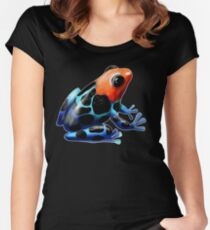 Poison Dart Frog  Women's Fitted Scoop T-Shirt
