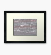 Spanish gray abstract watercolor Framed Print