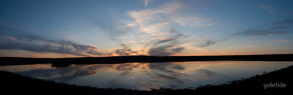 Sunset over a Nameless Lake by yuletide