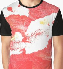 Coral red abstract watercolor Graphic T-Shirt