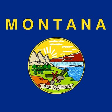 Flag of Montana by Countries-Flags