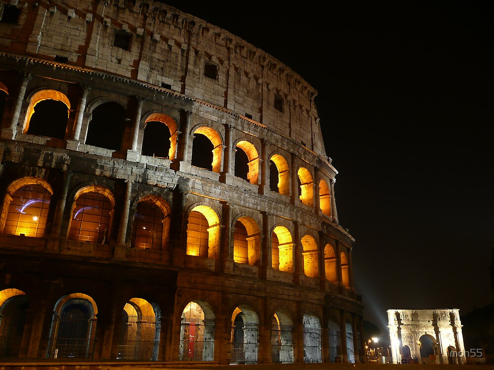 Colosseum at night by mon55
