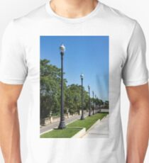 The Marching Streetlights Parade - a Perspective Study in Barcelona  T-Shirt