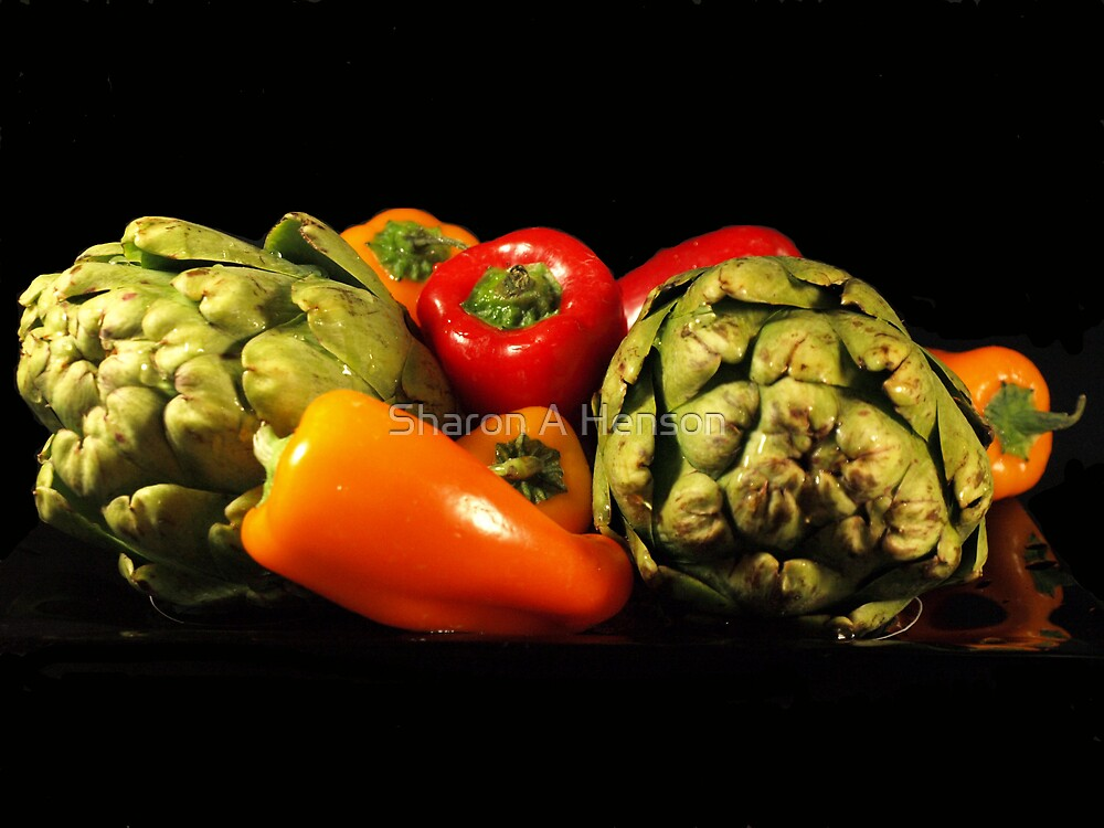 ARTICHOKES AND PEPPERS by Sharon A. Henson