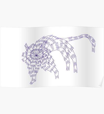 Zaggy Cat Poster