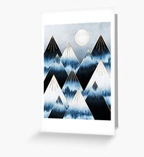 Frost Mountains Greeting Card