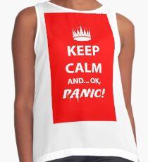 Keep Calm and Panic! Contrast Tank