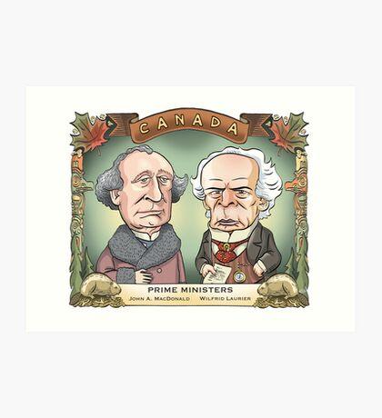Prime Ministers John A MacDonald & Wilfrid Laurier Art Print