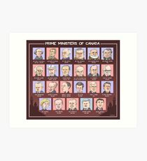 Canada's Prime Ministers (updated for 2015-2019) Art Print