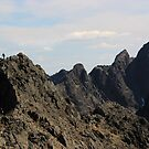 Climber on Cuillin Ridge by beavo