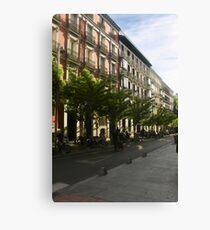 Quiet Street In Madrid  Canvas Print