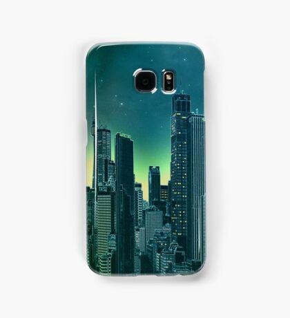 Night city [turquoise] Samsung Galaxy Case/Skin