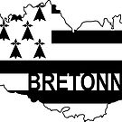 Bretonne with Brittany Flag by RiverbyNight