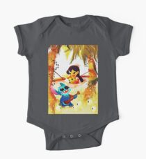 music time with stitch One Piece - Short Sleeve