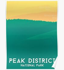 Peak District - Rolling Hills Graphic Art Print Poster